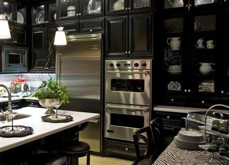 luxury black kitchen with high end appliances kitchen luxuryhomes appliances black
