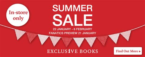 the exclusive books exclusive books summer sale exclusive books