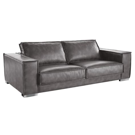 baretto grey nobility leather sofa buy leather sofas