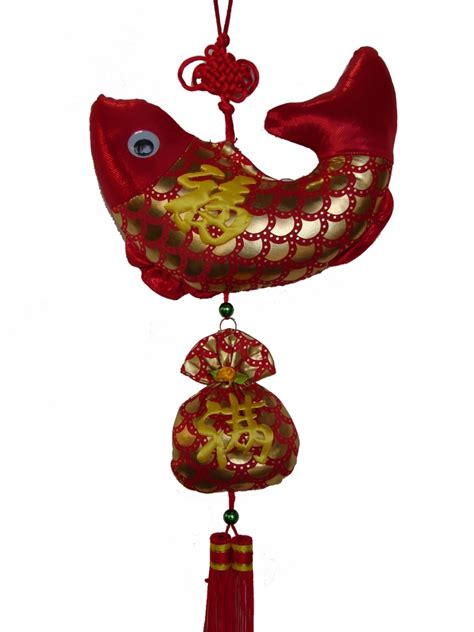 year charm fish  money bag  chinese  year