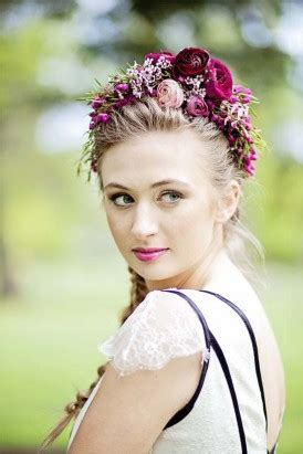 avante garde floral inspiration polka dot bride