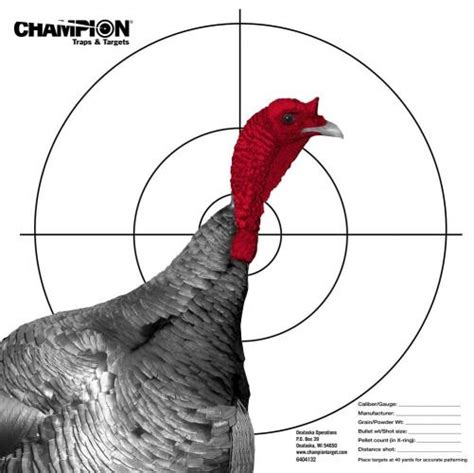 printable wild turkey targets wrigley sales chion target company turkey patterning
