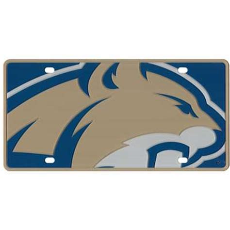 montana state colors montana state bobcats color mega inlay license plate