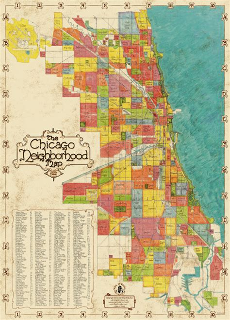 Chicago Map Poster by Welcome To Bigstick Inc Chicago Neighborhood Map 2nd