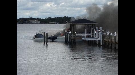 boat crash daytona beach boat catches fire sinks in halifax river in daytona beach