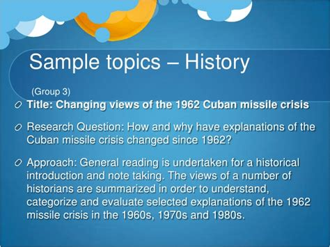 Cuban Missile Crisis Research Paper Questions by Choosing A Topic