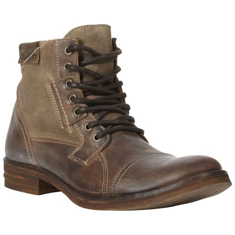 dune boots dune cropper toe cap warm lined boots in brown for lyst
