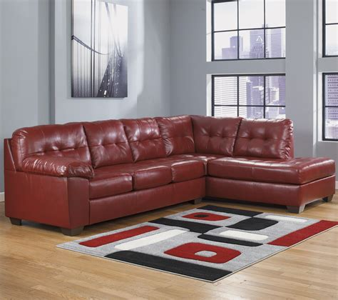 sectional sofa w chaise faux leather sectional w right chaise tufting by
