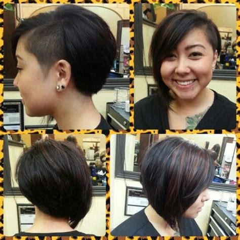 steep asymetrical side shave bob haircuts 17 best images about hair styles on pinterest long curly