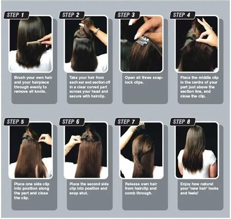how to put in hair extensions human made clip in hair extensions one half