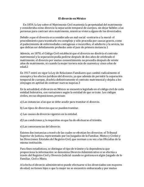 demanda de divorcio necesario sobre la causal de abandono el divorcio en m 233 xico