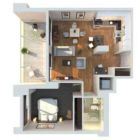 house plan with apartment 1 bedroom apartment house plans