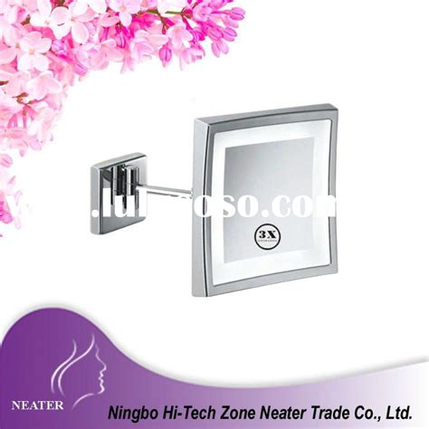 new beauty cosmetic wall mount bathroom mirror square led lighted makeup mirror large circular mirror of the
