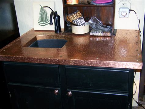 Copper Countertop by Copper Countertop Brown Hairs