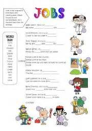 Printable Grammar Worksheets English Teaching Worksheets Jobs Song