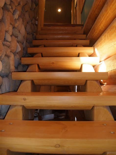 Log Cabin Stairs by Log Home Stairs And Bars Gallery Artisan Custom Log Homes
