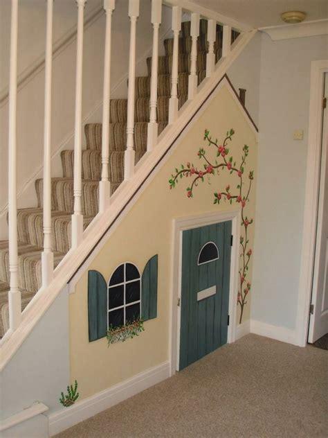 under stairs 14 kid s under the stair playhouse ideas home tweaks