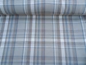 Tartan Plaid Curtains Curtain Fabric Highland Wool Tartan Blue Beige Check Plaid Upholstery Curtains Heavy