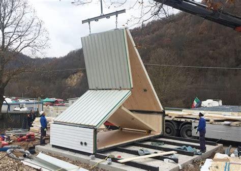 a frame cabin prefab foldable prefab a frame cabin by madi in italy