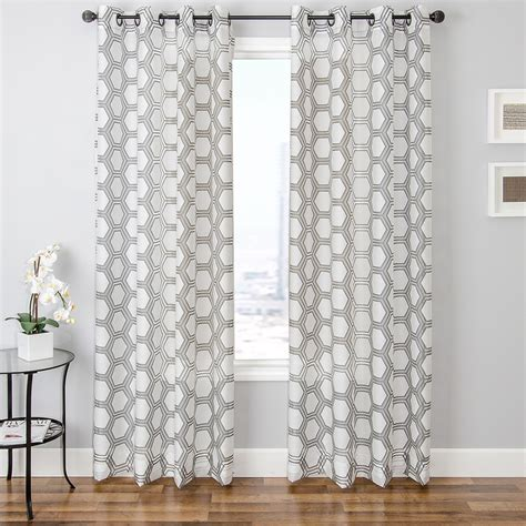 patterned curtain elegant white patterned curtains homesfeed
