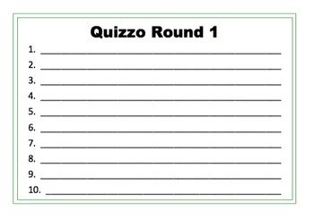 quiz answer sheets blank quizzo answer sheets by teach it like it is teachers