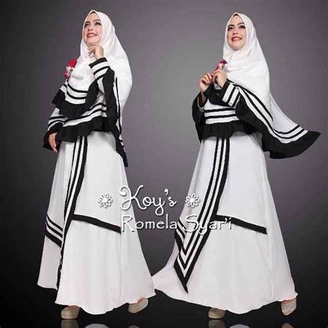Cym Syari Bublle Magenta Baju Muslim Gamis model baju gamis modern terbaru romela koys