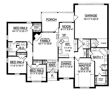 back bathroom floor plan revisions dscn home creative traditional style house plan 4 beds 2 baths 1909 sq ft