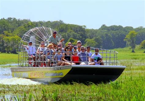 fan boat ride orlando airboat tours airboat tour of the sws transport from