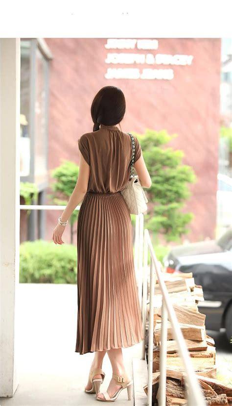 Dress Panjang Dress Dress Murah Baju Coklat dress import cantik model terbaru jual murah