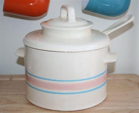 Sendok Soup Ladle Color Pink mccoy soup tureen bowl with lid ladle pot pink blue stripe