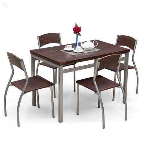 buy royaloak zita dining table set with 4 chairs