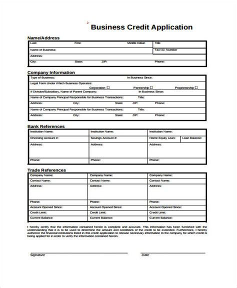 Bank Credit Reference Form Sle blank credit application form for business credit application sle resume template business