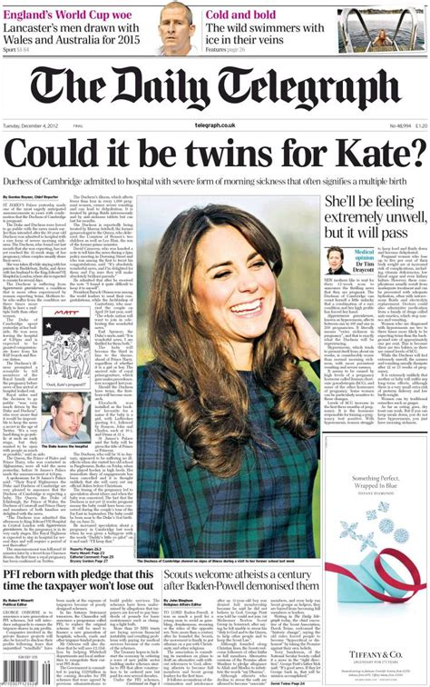 culture telegraph online daily telegraph sunday telegraph front page pregnancy uk press goes mad over royal baby