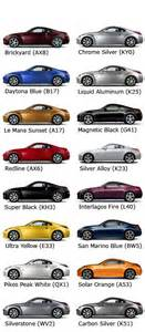 350z colors 350z paint colour code guide 350z faq 350z 370z uk