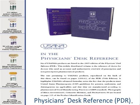 pdr physicians desk reference usana health freedom