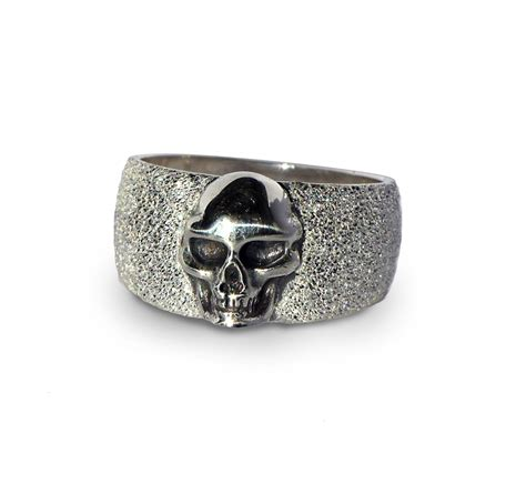 womens silver skull jewelry rings bands