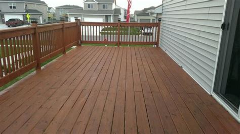 Cabot Decking Stain by The Deck After Using Cabot Stain 1417 New Redwood The