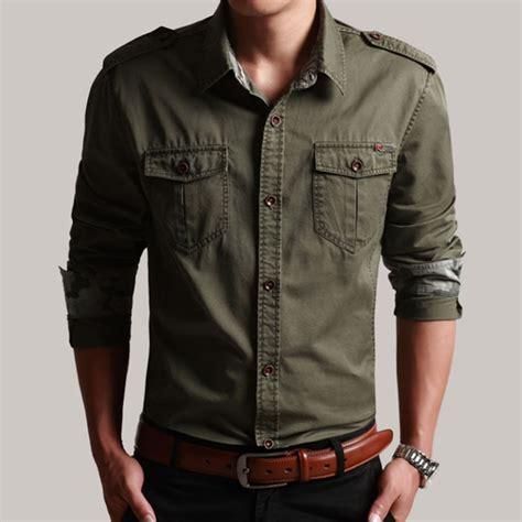Amenicer Navy Kemeja Pria Style Formal Casual Slim Fit Berkualitas casual mens shirts sleeved custom shirt