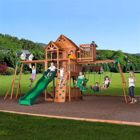 skyfort ii cedar swing set 40 best images about outdoors on pinterest cubby houses