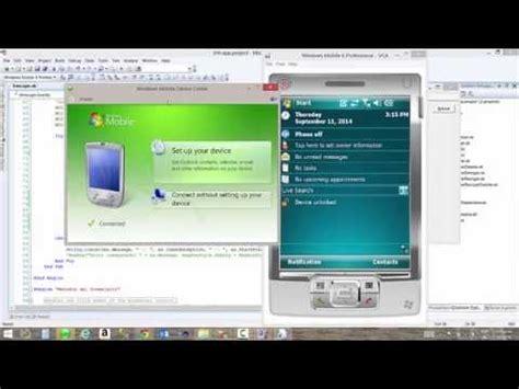 mobile device center configurar windows mobile device center con visual studio