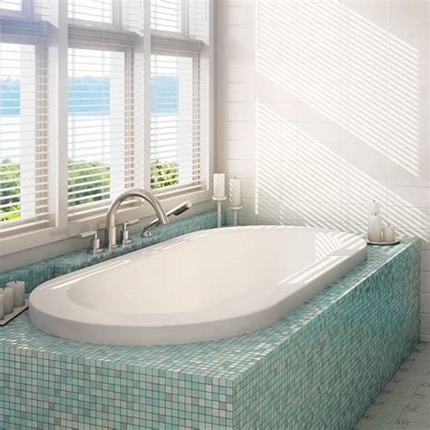 alcove tulipe podium bathtub