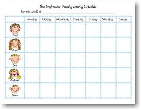 Planner Memo Schedule Medium weekly schedule notepads back to school