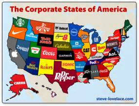 map of the state of usa the corporate states of america steve