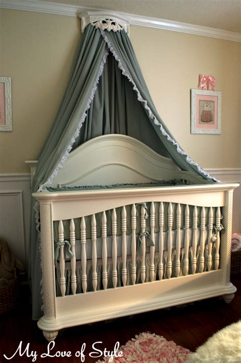 Canopy For Cribs by Diy Bed Crown Crib Canopy Tutorial Hometalk