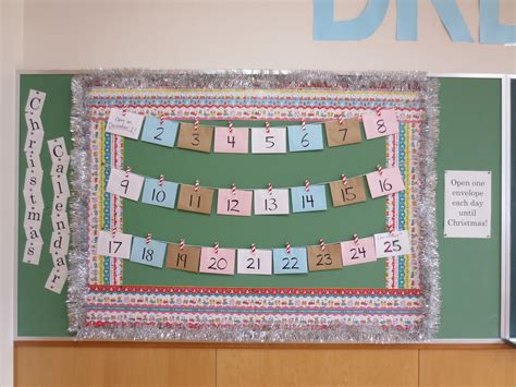 themes for an english day christmas bulletin board advent calendar 素敵なライフ