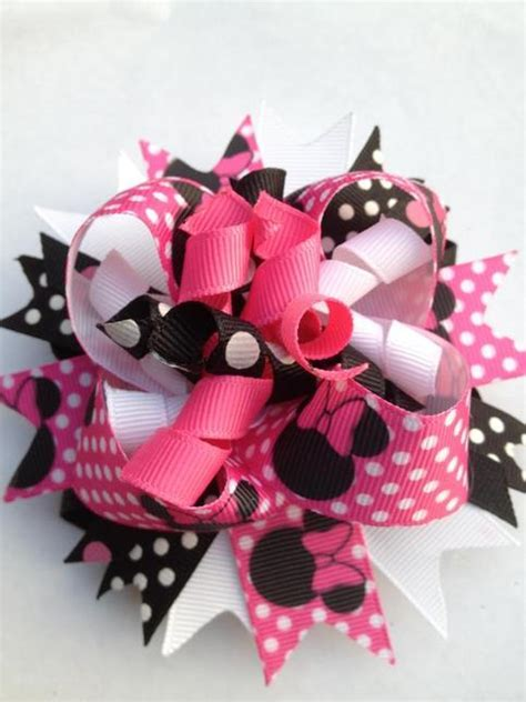 Pink Minnie Mouse Inspired Bow on Storenvy