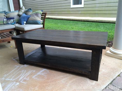diy rustic  coffee table plans  ana white handmade