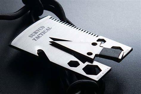 card multitool survco tactile credit card ax multi tool gadgetsin