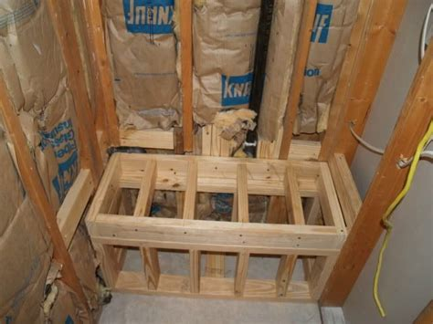 How To Build A Frame Around A Bathroom Mirror Shower Bench Block Vs Frame Ceramic Tile Advice Forums Bridge Ceramic Tile