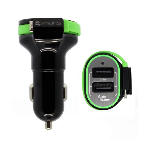 Multiport Usb Charger 4smarts multiport dual usb micro usb car charger 3 4a microusb